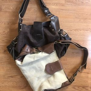 Matt & Nat Lot of 2 Purses Brown Tan